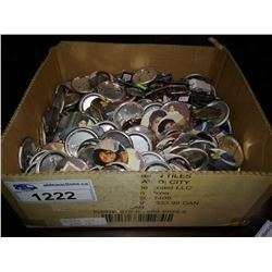 BOX OF VINTAGE MICHAEL JACKSON PINS