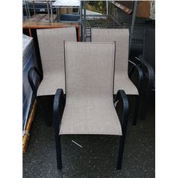 3 PATIO CHAIRS