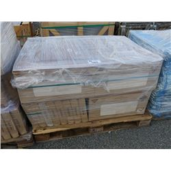 PALLET OF 1' X 2' CERAMIC ALL-PURPOSE TILE FOSSILIZED WOOD PATTERN AND SAND IN COLOUR, 492SQFT