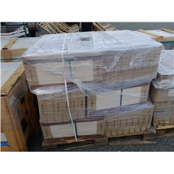 PALLET OF 1' X 2' CERAMIC ALL-PURPOSE TILE FOSSILIZED WOOD PATTERN AND SAND IN COLOUR, 648SQFT