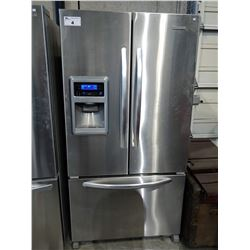 3' WIDE KITCHENAID STAINLESS STEEL FRENCH DOOR FRIDGE / FREEZER WITH WATER & ICE