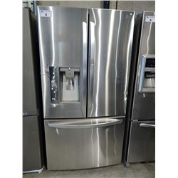 3' WIDE LG STAINLESS STEEL FRENCH DOOR FRIDGE / FREEZER WITH WATER & ICE