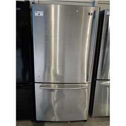 33  WIDE LG STAINLESS STEEL FRIDGE / FREEZER