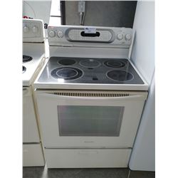 WHITE KITCHENAID ELECTRIC STOVE