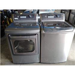 GREY LG WAVEFORCE WASHER AND TRUE STEAM DRYER SET