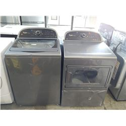GREY WHIRLPOOL CABRIO WASHER/DRYER SET