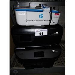 3 HP WIRELESS ALL-IN-ONE PRINTERS (DESKJET 3755, OFFICEJET 3833 & ENVY PHOTO 6255)