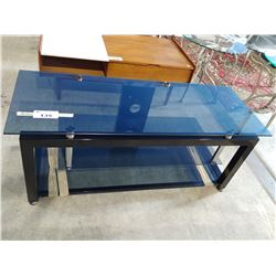 GLASS & METAL TV STAND