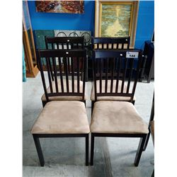 4 DARK WOOD DINING CHAIRS