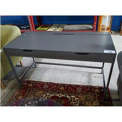 GREY 2-DRAWER DESK