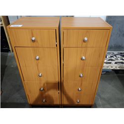 PAIR OF 4-DRAWER FILE CABINETS