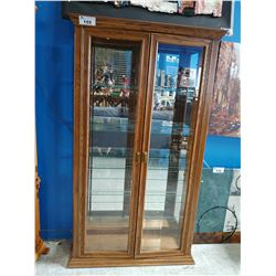 WOOD DISPLAY CABINET