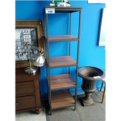 5-TIER WOOD & METAL DISPLAY SHELF