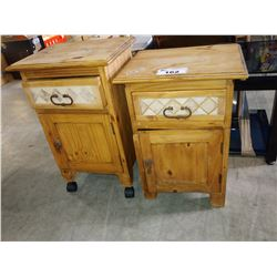 PAIR OF WOOD NIGHTSTANDS