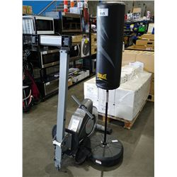 SUNNY ROWING MACHINE AND EVERLAST PUNCHING BAG