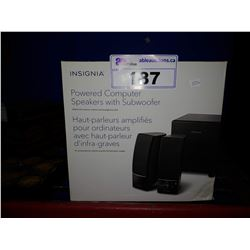 INSIGNIA POWERED COMPUTER SPEAKERS WITH SUBWOOFER