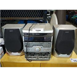 SONY DISC HI-FI COMPONENT SYSTEM WITH PAIR OF SPEAKERS