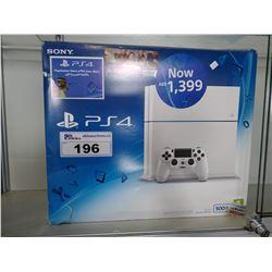 SONY 500GB PS4 CONSOLE, GLACIER WHITE