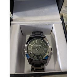 GEOFFREY BEENE STAINLESS STEEL WATCH