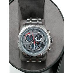 CITIZEN ECO-DRIVE RADIO CONTROLLED WRIST WATCH IN BOX (WATER RESISTANT 20BAR)