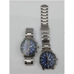 PAIR OF CITIZEN ECO-DRIVE WRIST WATCHES (WATER RESISTANT 10 BAR) - REPAIRS NEEDED