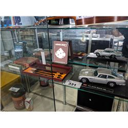 LOT INCLUDING CALLIGRAPHY SET, 1963 ASTON MARTIN MODEL CAR AND MORE