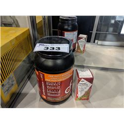 PERFORMANCE DOTFIT WORKOUT PROTEIN POWDER AND FLORADIX IRON TABLETS