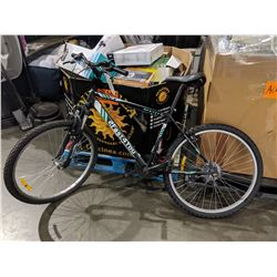 BLACK 2 FAST FOR YOU 18 SPEED MOUNTAIN BIKE