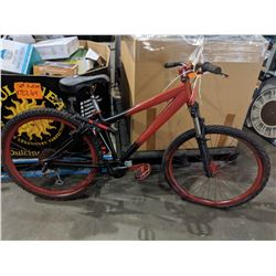 RED 24 SPEED MOUNTAIN BIKE