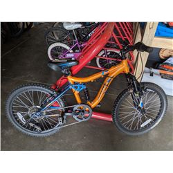 ORANGE MONGOOSE LEDGE 7 SPEED CHILD'S BIKE