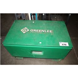 GREENLEE JOB BOX WITH CONTENTS