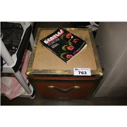 TRUNK WITH CONTENTS AND BEATLES BOOK