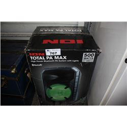 ION TOTAL PA MAX BLUETOOTH PA SYSTEM WITH LIGHTS