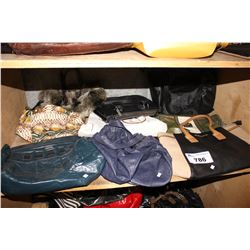 SHELF OF PURSES AND BAGS