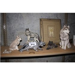 SHELF OF WOLF DECOR AND MORE