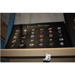 FRAMED NHL LEAGUE HISTORY CANVAS