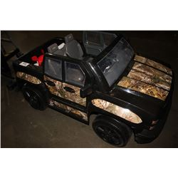 CHILDRENS CAMO SILVERADO RIDE ON TRUCK