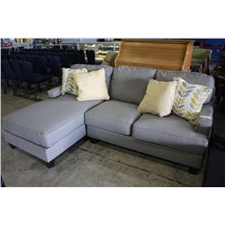 2 PIECE GREY FABRIC SECTIONAL