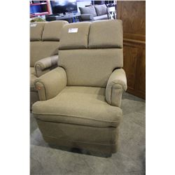BROWN FABRIC ROCKER RECLINER