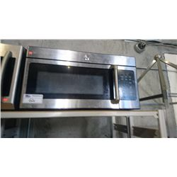 GE STAINLESS STEEL MICROWAVE (NEEDS CLEANING)