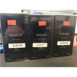 3  X 100ML INSPIRED BY VOYAGE DIOR SAUVAGE COLOGNE FOR MEN