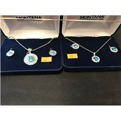2 MONTANA SILVERSMITH NECKLACE & EARRING SETS