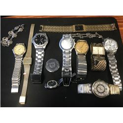 LOT ASSORTED WATCHES, BRACELETS, ETC