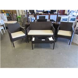 4 PC OUTDOOR PATIO TABLE SET