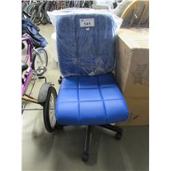 ROLLING BLUE OFFICE CHAIR