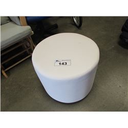 WHITE CIRCULAR FOOT STOOL