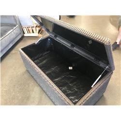 CANVAS PATIO STORAGE BENCH/DECK BOX