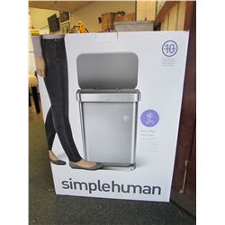 SIMPLE HUMAN Q LINER (55L) STAINLESS STEP CAN