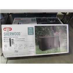 "KETER 270L SHERWOOD DECK BOX (46 X 17.7 X 22.5"")"