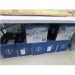 APPROX 12+ CASES OF ESKA CARBONATED SPRING WATER (12X750ML CASES)